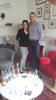 Jim and Megan from UK enjoying a private tasting at Benromach