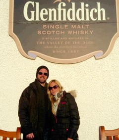 Renato and Chris at the Glenfiddich Distillery Escorted Car