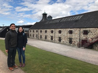 Patrick and his girl friend from Los Angeles at Balvenie Distillery.