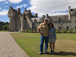 Scott and his wife from USA at Ballindalloch Castle